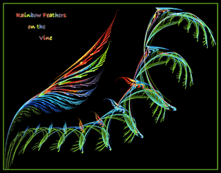 Rainbow Feathers on the Vine by Maginater