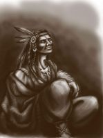 indian___sketch by RaetElgnis
