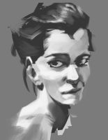 Grayscale Portrait by mEnvY
