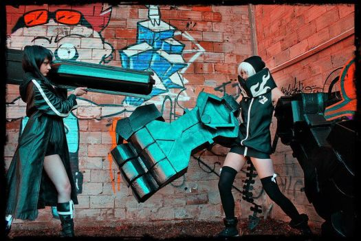 Strength VS Black Rock Shooter by Rocchan94