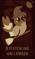 {A Fletchling Halloween} Poster