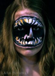 Deviant ID - Face painting by larahawker