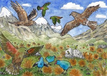 Mountain Birds by ZoeSotet