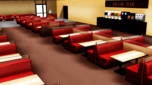 MMD Family Restaurant Stage by amiamy111