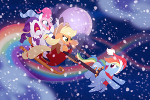 Rainbow Dash-ing Through the Snow by nanook123