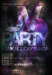 UV Party Flyer by CreamEgg89