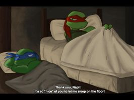 Raph will not leave you without comfort by SofiaMarshall