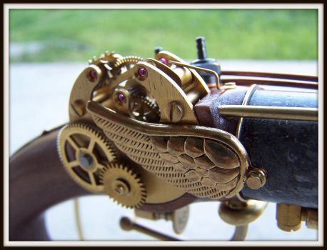 Steampunk Queen Anne Pistol by ShadowArcher80