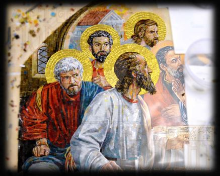 'Last Supper' in glass mosaic by Artmoment-Rus