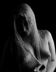 Lady in Mesh  mono by Ozphotoguy