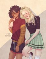 Female!Drarry 1 by upthehillart
