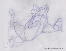 Study ~ Rolling Horse by LittleFishyArts