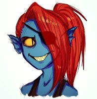 Undyne by marrykitts