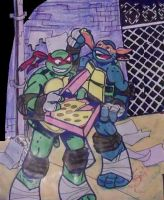 Raphael and Michelangelo by AprilONeil1984