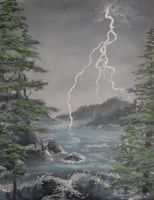 My Very First Storm Painting by Melanie76