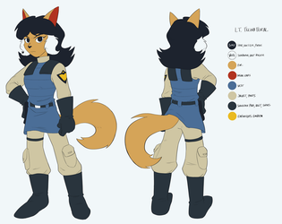 [COMMISSION] LT. FELINA FERAL REFERENCE by EvilSonic2