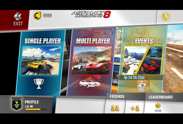 Asphalt 8 GUI Redesign test by ledious