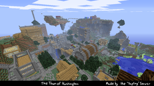 The Town of Huntington in MINECRAFT by Pyrovilekiller