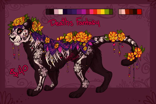 Deaths Fantasy Adopt (CLOSED) by yelnatsdraws