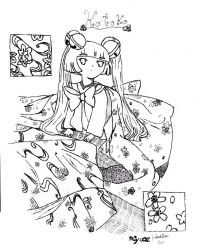Kotoko - Uncolored by Bow-and-Arrow