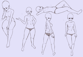Reference Poses 2 by AsymmetricButterfly