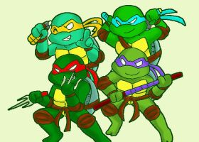 newtoon TMNT by koju327