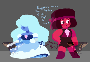 Sapphire and Ruby Bad Prediction AU by BoringArtist