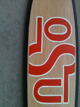 Long board deck close up by willsketch