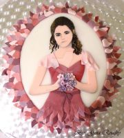 Hermione Cake by ginas-cakes