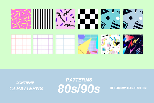 80s - 90s -PATTERNS by LittleDr3ams