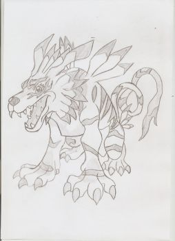 Garurumon ^^ by Adripika