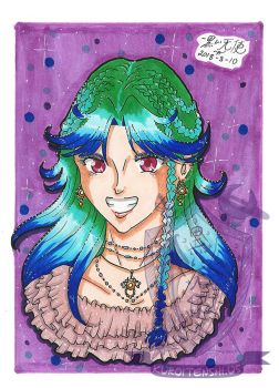 Traditional 5x7 Unnamed OC for twilightedgeart by kuroitenshi13