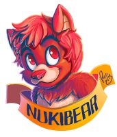 Nukibear badge by pandapaco