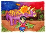 Emmanuel and the Triceratops by sisiziur