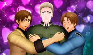 .: Two Italians and a German :. by EpiclyAwesomePrussia