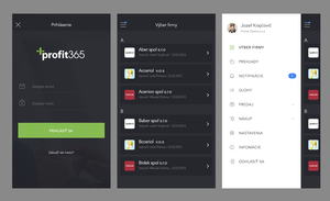Draft of mobile design for Profit365 by jozef89