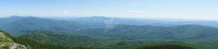 Camel's Hump Panorama by Neshrie
