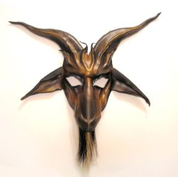 Baphomet Goat Leather Mask by teonova