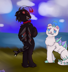 Art trade with senpai by SilverCandyDeath