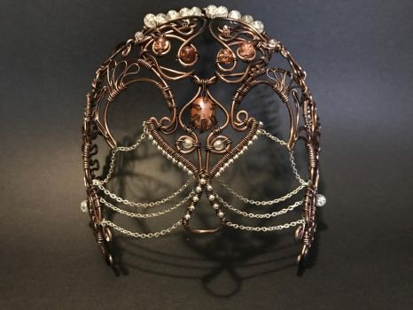 Wire wrapped skull masquerade mask by WireArtTutorials