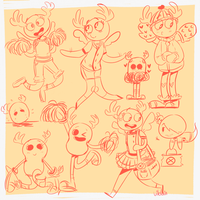 penny sketches by vilelain
