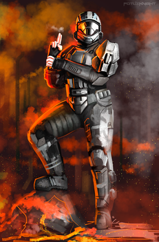 Halo 3: ODST - Rookie Commision by FotusKnight