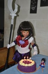 AYAME'S 3RD BIRTHDAY - SUPER SAILOR SATURN by prinsesaian