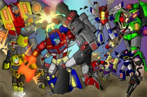 Transformers poster by KevinTrentin