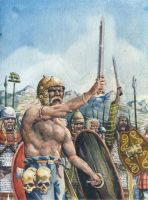 Gauls on the battle line by deWitteillustration