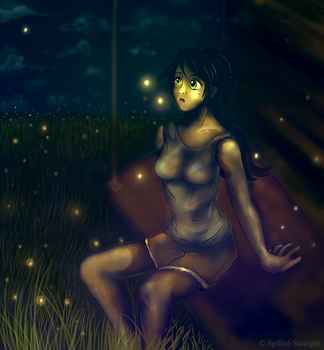 A Shade of Fireflies by Spilled-Sunlight