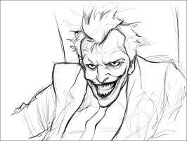 Joker Sketch by JorgeDaniel