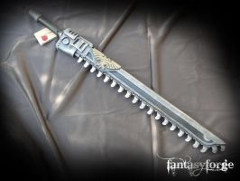LARP Chainsword replica by FantasyForgeLARP
