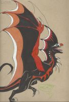 Achilles the Wyvern by AmericanBlackSerpent