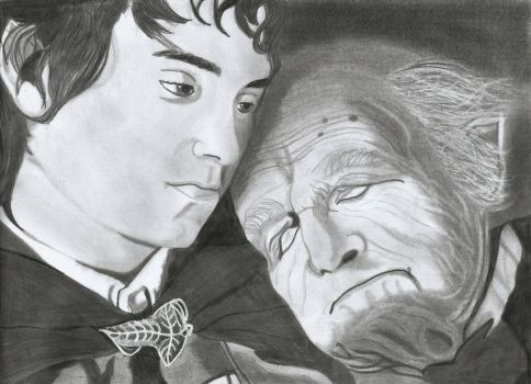 Frodo and Bilbo by SLY-2